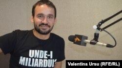 Artur Gurău în 2016 la Radio Europa Liberă