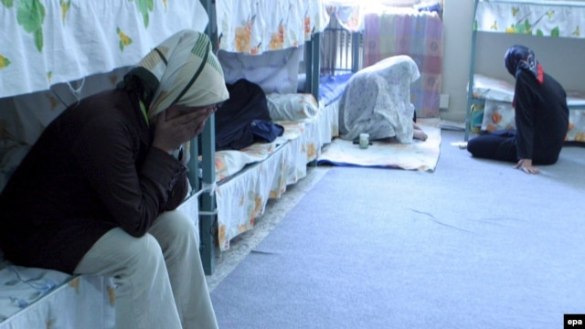 Iranian women inside a prison cell in the women's section of Tehran's notorious Evin prison in 2006. Sahar Delijani's mother and father were both imprisoned after the 1979 revolution.