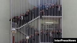 Վրաստան - Դատապարտյալների բողոքի ակցիան Քսանիի բանտում, նոյեմբերի, 2012թ.