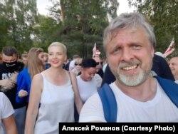 На протесте в Минске с Марией Колесниковой, август 2020 года