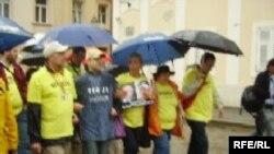 Protest protiv napada na novinare, Zagreb, 06. jun 2008. Foto: Enis Zebić
