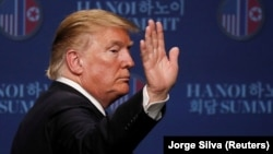 Дональд Трамп на прес-конференції після саміту з Кім Чен Ином, Ханой, В'єтнам, 28 лютого 2019 року