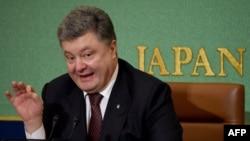 Presidenti i Ukrainës, Petro Poroshenko, gjatë vizitës në Japoni, 6 prill 2016