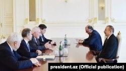İlham Əliyev ATƏT-in Minsk qrupunun həmsədrlərini qəbul edib. 7okt2017