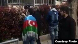 Azərbaycanın İstanbuldakı Baş Konsulluğu qarşısında aksiya