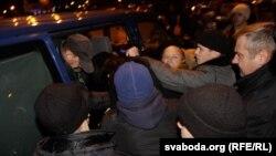 Разгон акции солидарности с политзаключенными, Минск, 25 октября 2011