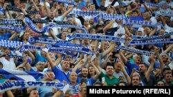 Navijači FK Željezničar na jednoj od utakmica