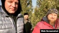 """Емельяненко и Кадыров. Скриншот со страницы спортсмена в """"Инстаграме"""""""