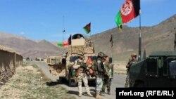 نیروهای امنیتی افغان در ارزگان