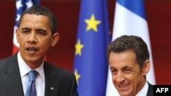 Барак Обама менен Николя Саркози Страсбургда