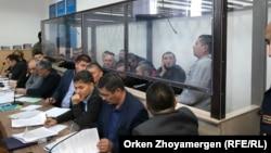 На первом слушании по делу вывезенных из Сирии казахстанцев, обвиняемых в совершении террористических преступлений. Нур-Султан, 22 октября 2019 года.