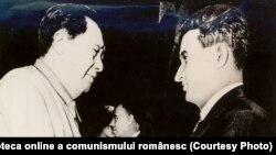Întrevederea dintre Nicolae Ceauşescu şi Mao Zedong la Palatul Adunării Reprezentanţilor Populari din China. (3 iunie 1971) Sursa: Fototeca online a comunismului românesc; cota: 3/1971