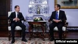 Кыргыз-орус премьерлери Оторбаев менен Медведев, Москва, 29-апрель, 2014.