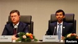 Reallıq: İndi Rusiyanın energetika naziri Novak OPEC məclisində təşkilatın sədri Al Mazrouei ilə başda oturur
