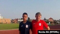 Petar Udovičić sa trenerom Željkom Čelikovićem