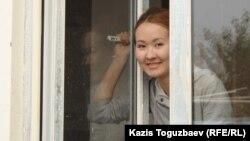 Айдана Айдархан, диссидент Арон Атабектің қызы. Алматы, 29 қыркүйек 2012 ж.