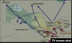 Кадр из телепрограмм Узбекистана