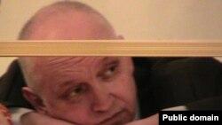 Оппозиционный политик Владимир Козлов во время оглашения приговора. Актау, 8 октября 2012 года.