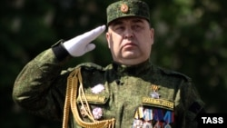 Главарь «ЛНР» Игорь Плотницкий, Луганск, 9 мая 2016 года