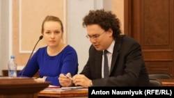 Адвокаты Марина Агальцова и Кирилл Коротеев в Верховном суде России, 29 сентября 2016 года
