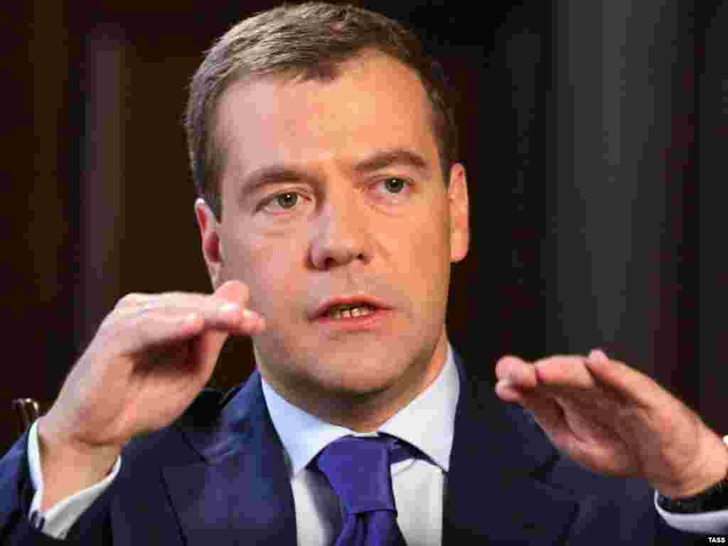 Дмитрий Медведев дал интервью американскому телеканалу CNBC