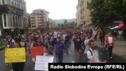 Sa antivladinog protest u Skoplju (7. maj)