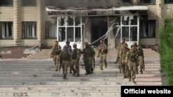 Українські спецпризначенці в Торецьку (тоді ще Дзержинську) після звільнення міста, липень 2014 року