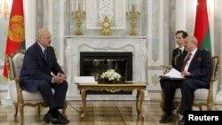 Падчас сустрэчы Аляксандра Лукашэнкі і Лямбэрта Заньера