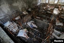 Бывший детский сад в городе Припять