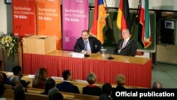 Germany - Armenian Prime Minister Nikol Pashinian speaks at Technical University of Cologne, January 31, 2019.