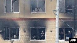 آتشسوزی در کیوتوی ژاپن