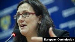 Еврокомесарот за внатрешни работи Сесилија Малмстром
