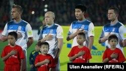 Члены национальной сборной Кыргызстана по футболу.