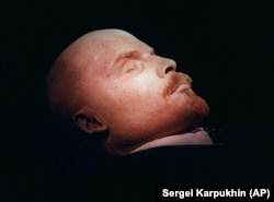 The embalmed body of Vladimir Lenin is on display in his tomb on Moscow's Red Square.