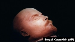 The embalmed body of Vladimir Lenin in a mausoleum on Moscow's Red Square. (file photo)