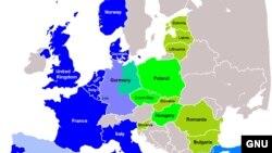 Harta extinderii NATO