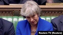 Премьер-министр Тереза Мэй парламенттеги талкууда. 16-январь, 2019-жыл.