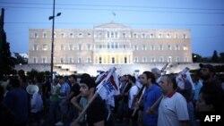 تظاهرات فولادکاران یونانی در اعتراض به شرایط کار و زندگی