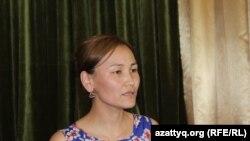 Гульжан Салимбаева, учительница школы-гимназии № 38 имени Нуртаса Ондасынова. Шымкент, 5 июня 2017 года.