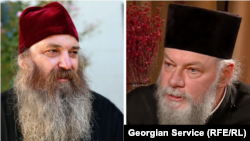 Епископ Бодбийский Иаков (слева) и бывший митрополит Чкондидский Петре Цааваa