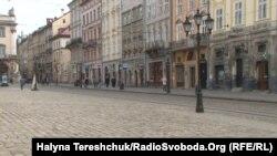 Центр Львова 20 березня 2020 року