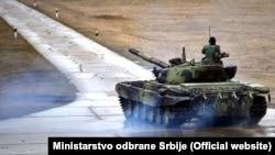 Tenk M-84 Vojske Srbije na redovnoj vežbi (3. februar 2020.), ilustracija
