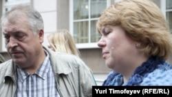 Родители Ивана Агафонова у Замоскорецкого суда