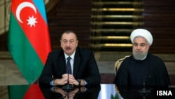 Президент Ирана Хасан Роухани и президент Азербайджана Ильхам Алиев