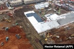 Строительство новой больницы в Ухане