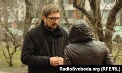 Переселенка з Луганська Марина та журналіст «Донбас.Реалії» Борис Іванов