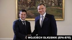 Президенти України та Польщі Володимир Зеленський (л) та Анджей Дуда, архівне фото, 2019 рік