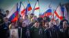 На автопробеге по случаю годовщины крымского «референдума». Севастополь, 16 марта 2019 года