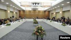 قادة عراقيون في إجتماع أربيل 2010