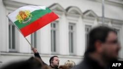 În fața Parlamentului de la Sofia...